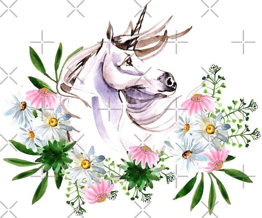 Unicorn Lavender Mane FLowers by SusieQQQ