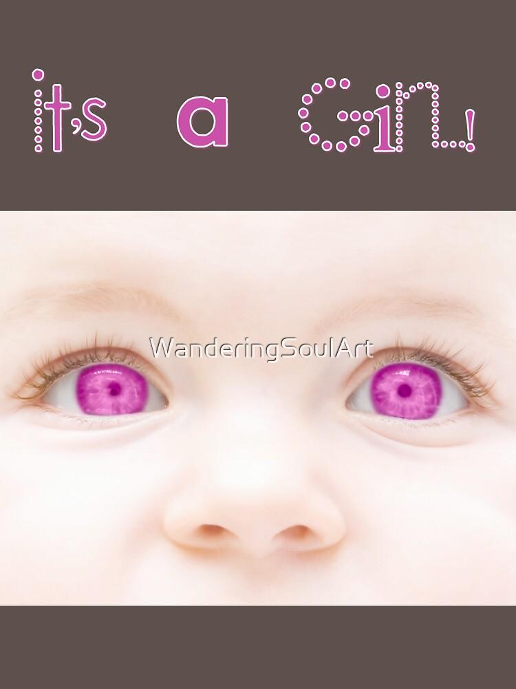 It's a Girl! T-Shirt by WanderingSoulArt