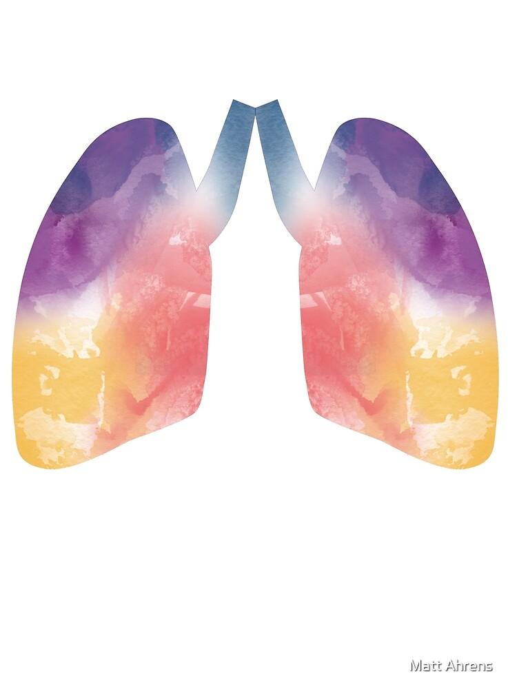 Watercolor Lungs by Matt Ahrens