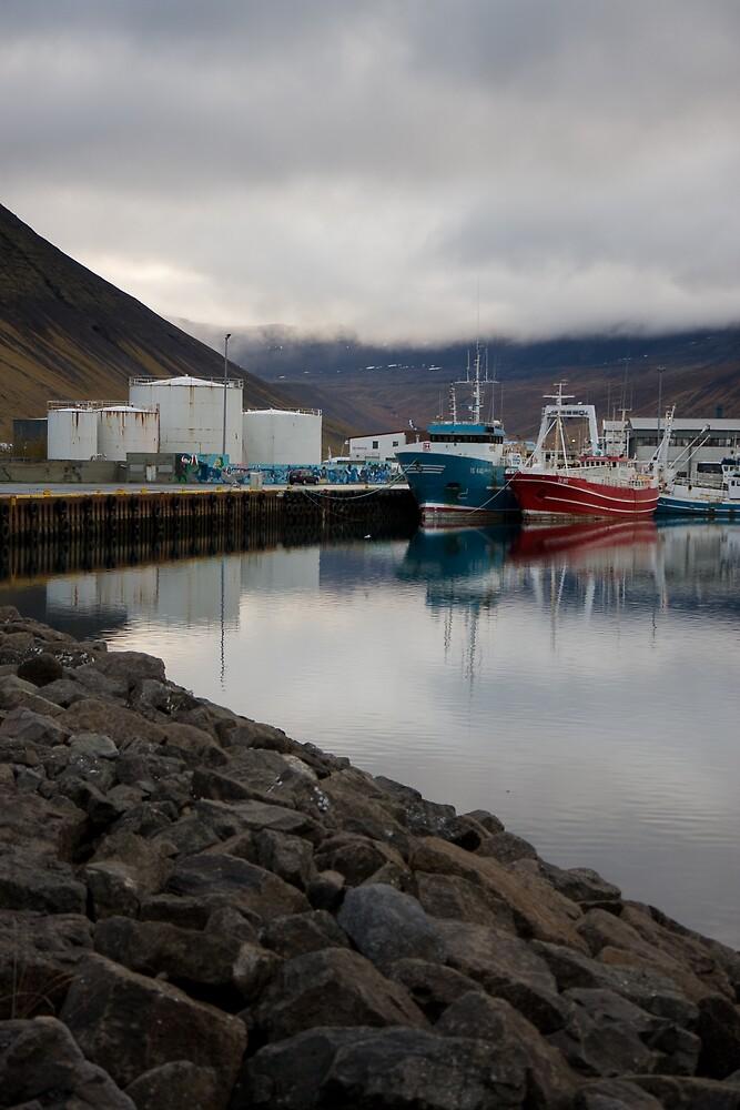 Ísafjörður Harbour by Phil Bain