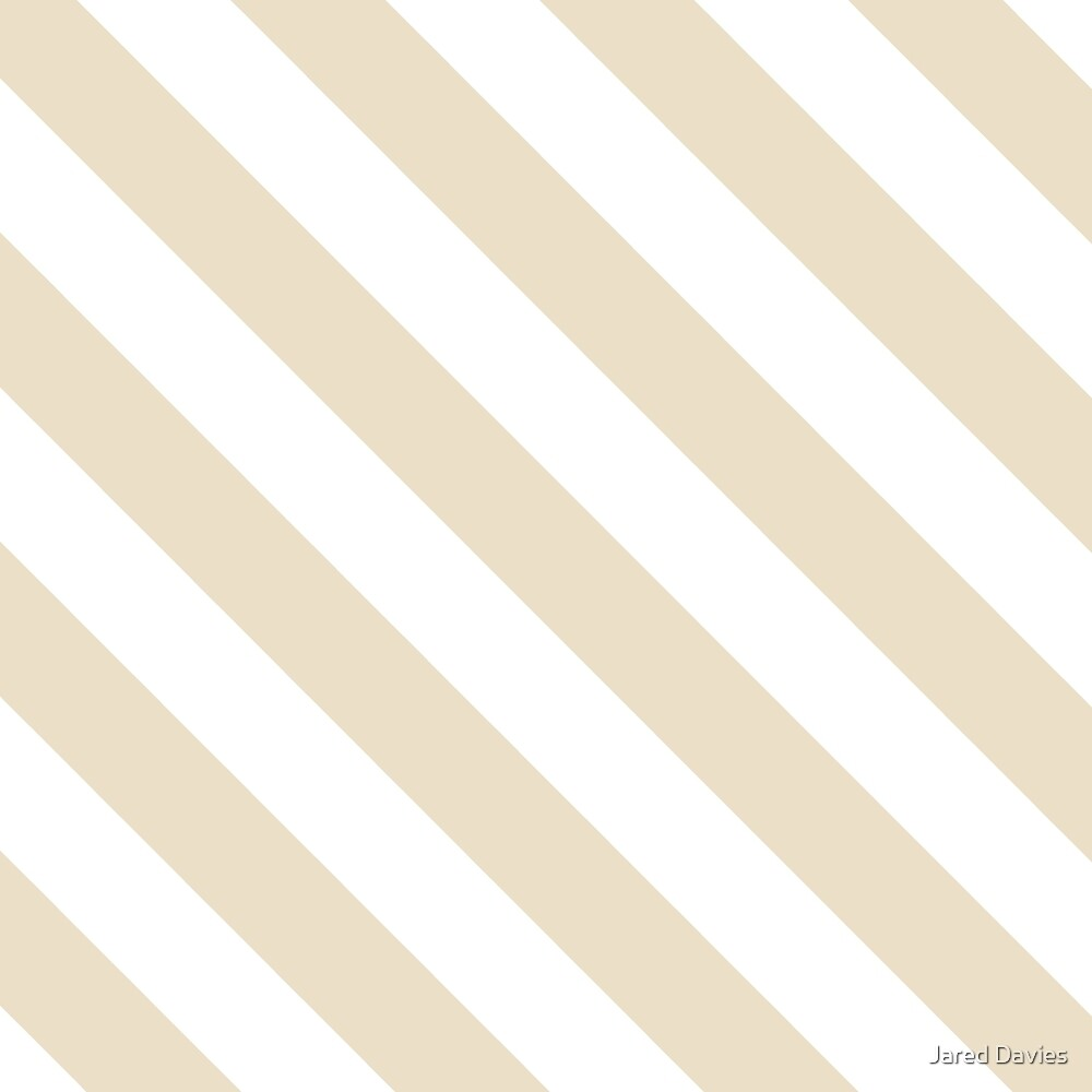 Beige (Khaki) & White Stripes Pattern by MilitaryCandA