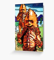 Weetabix Doctor Who 1977 Zygons Greeting Card