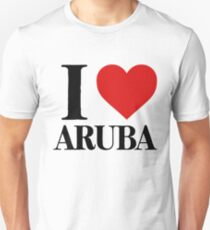 I Love Aruba For Beach Vacation Unisex T-Shirt