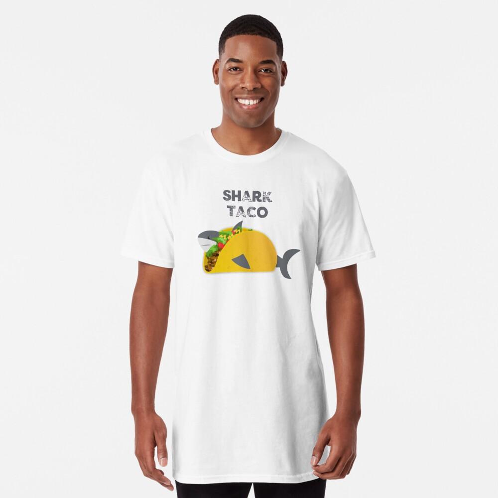 Funny Shark Taco Lovers Tshirt Tee Shirt Gift  Long T-Shirt