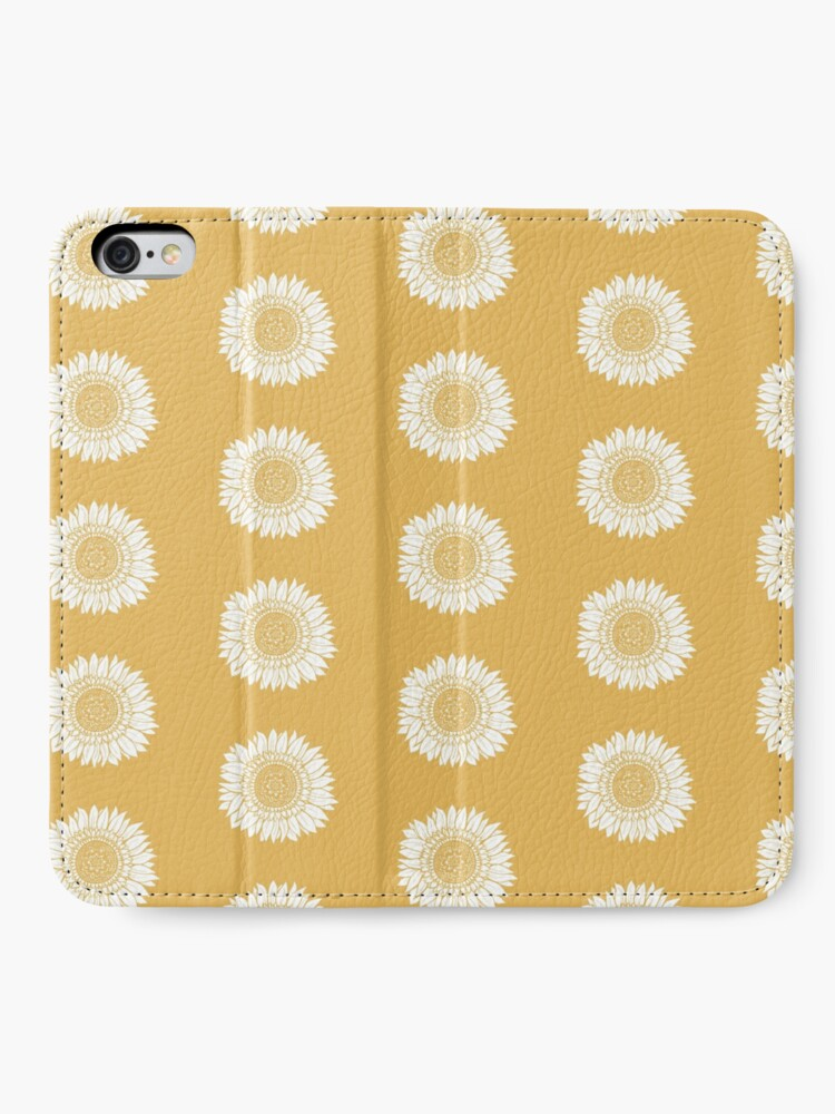 Alternate view of Yellow Flower Drawing Tapestry iPhone Wallet