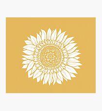 Gelbe Blume Zeichnung Tapisserie Fotodruck