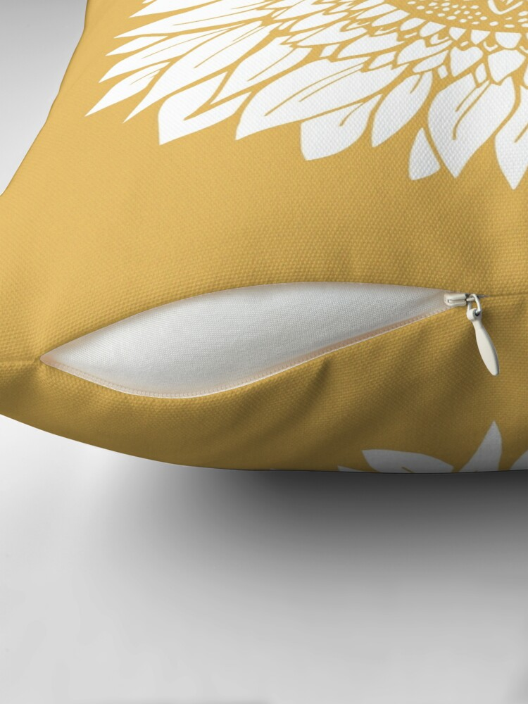 Alternate view of Yellow Flower Drawing Tapestry Floor Pillow