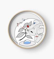 Circle Coffee Plant Surrealism Clock