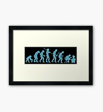 Evolution Ape To Geek Framed Print