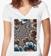 Marble Shock Women's Fitted V-Neck T-Shirt