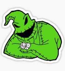 the oogie boogie man Sticker