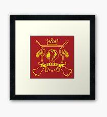 RED LION SEEKER Framed Print