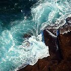 Salty water & rocks by Of Land and Ocean - Samantha Goode