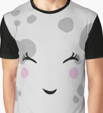 Super Cute & Nerdy Smiling Moon Graphic T-Shirt