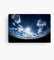 Blue Planet Inverse Canvas Print