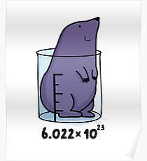 Chemie Maulwurf Tier Wortspiel Poster