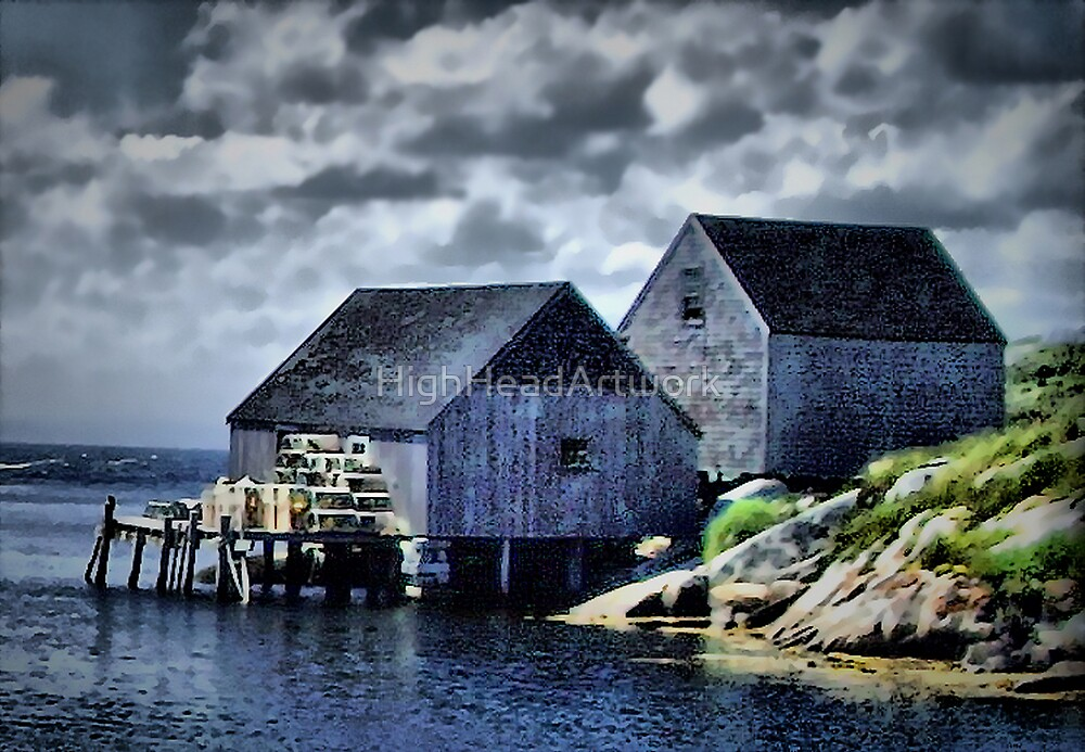 Peggy's Cove by HighHeadArtwork