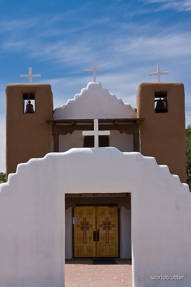 San Geronimo Church, Taos Pueblo, New Mexico by Tomas Abreu
