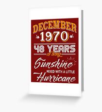 48th Birthday Gifts - 48th Wedding Anniversary Memorable Gifts - December 1970 Greeting Card