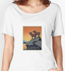 Vintage National Park Travel Poster Women's Relaxed Fit T-Shirt