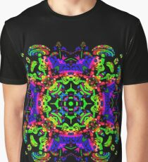 Psychedelic Mushroom Square Graphic T-Shirt
