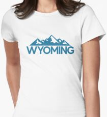 Wyoming Great For Wanderlust Travel Women's Fitted T-Shirt