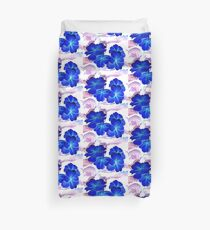 Bursts of Blue Duvet Cover