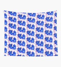 Bursts of Blue Wall Tapestry
