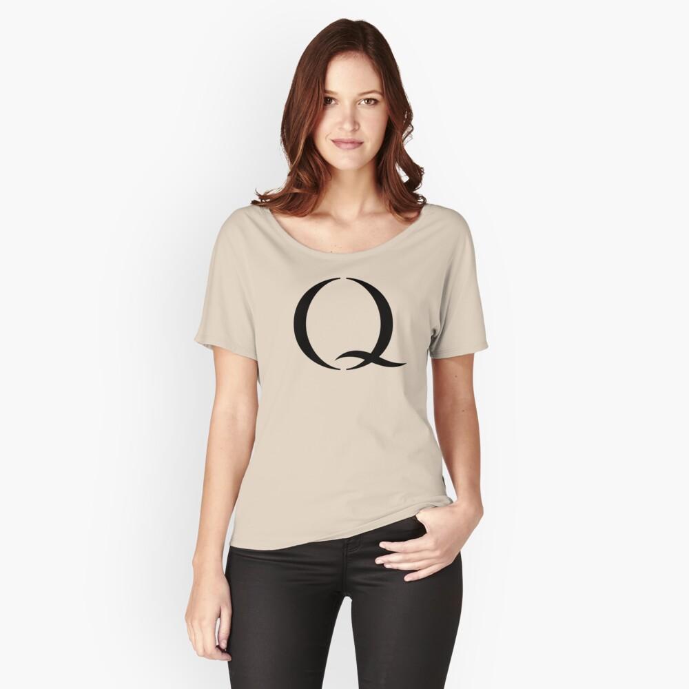Q - Qanon, #qanon, the BIG Q Relaxed Fit T-Shirt