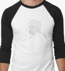 Alaska: Find Your Place Men's Baseball ¾ T-Shirt
