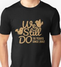 16th Wedding Anniversary Gift Tee Sixteen Years of Marriage Matching T-shirt, Phone Cases And Other Gifts Unisex T-Shirt