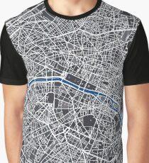 Map of Paris Mosaic  Graphic T-Shirt