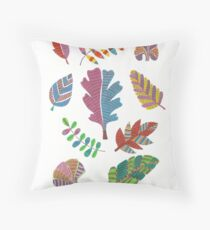 Pattern Leaves Throw Pillow