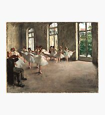 Ballet Rehearsal in 1873 Photographic Print