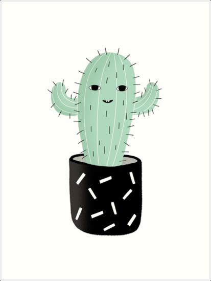 Cute Cactus Succulent Kawai Kawaii by sugarmint