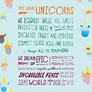 The Unicorn Manifesto (Blue) by Unicorns Unite