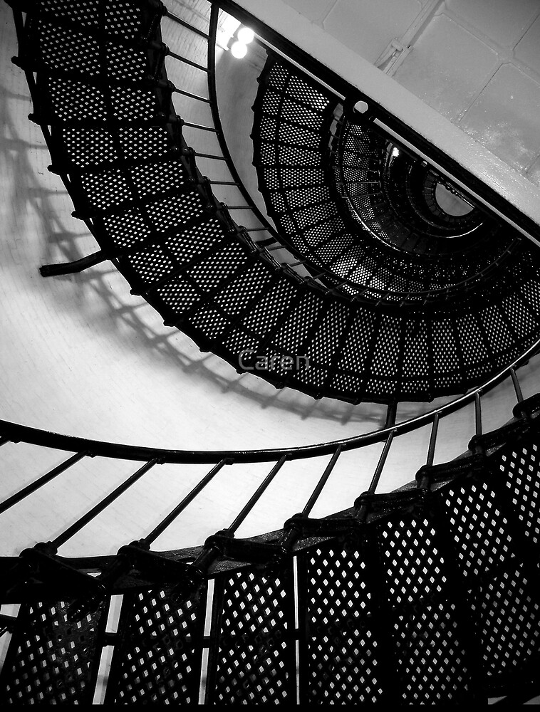 The Lighthouse Stairs by Caren