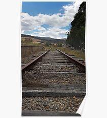 Train Track in colour Poster