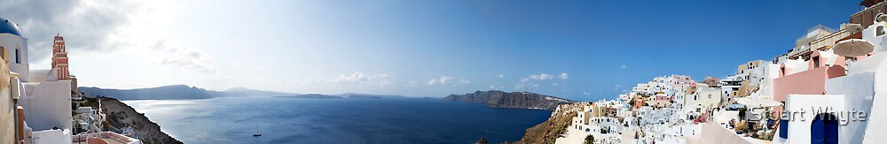 Santorini - A Panaramic II by Stuart Whyte