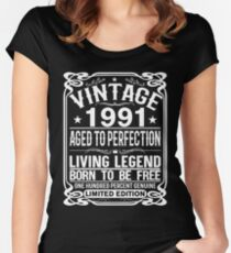 VINTAGE 1991 Women's Fitted Scoop T-Shirt