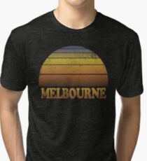 Vintage Melbourne Sunset Shirt Tri-blend T-Shirt