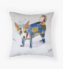The Patchwork Dog Throw Pillow