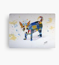 The Patchwork Dog Canvas Print