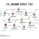 The Unicorn Family Tree (White) by Unicorns Unite