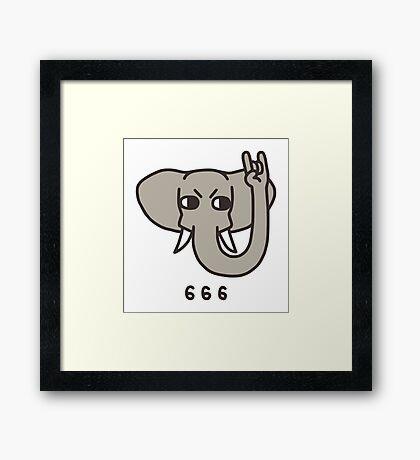 Metalephant Framed Print