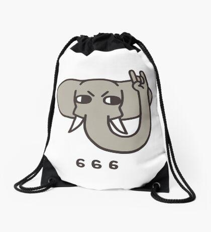 Metalephant Drawstring Bag