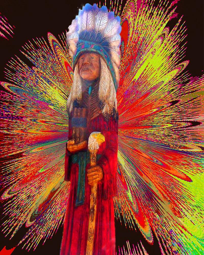 Wooden Indian by Dennis Burlingham