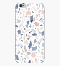 Terrazzo Pastellrosa- Jahrgang blau iPhone-Hülle & Cover