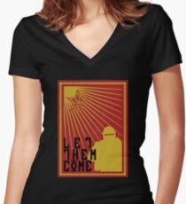 Tachanka let them come Women's Fitted V-Neck T-Shirt