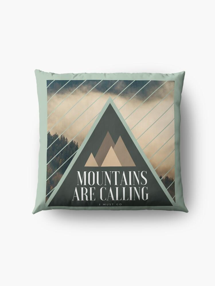 Coussin de sol ''Mountains are Calling': autre vue
